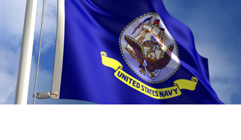 2-Ply Poly Navy Flag